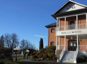 The Hollywood Schoolhouse is one of Woodinville's wine-tasting hubs.