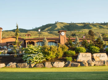 Tsillan Cellars offers wine tasting from a hillside overlooking Lake Chelan.