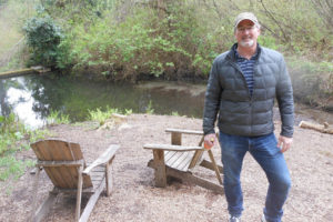The pond at JM Cellars offers a scenic setting for Woodinville rosé