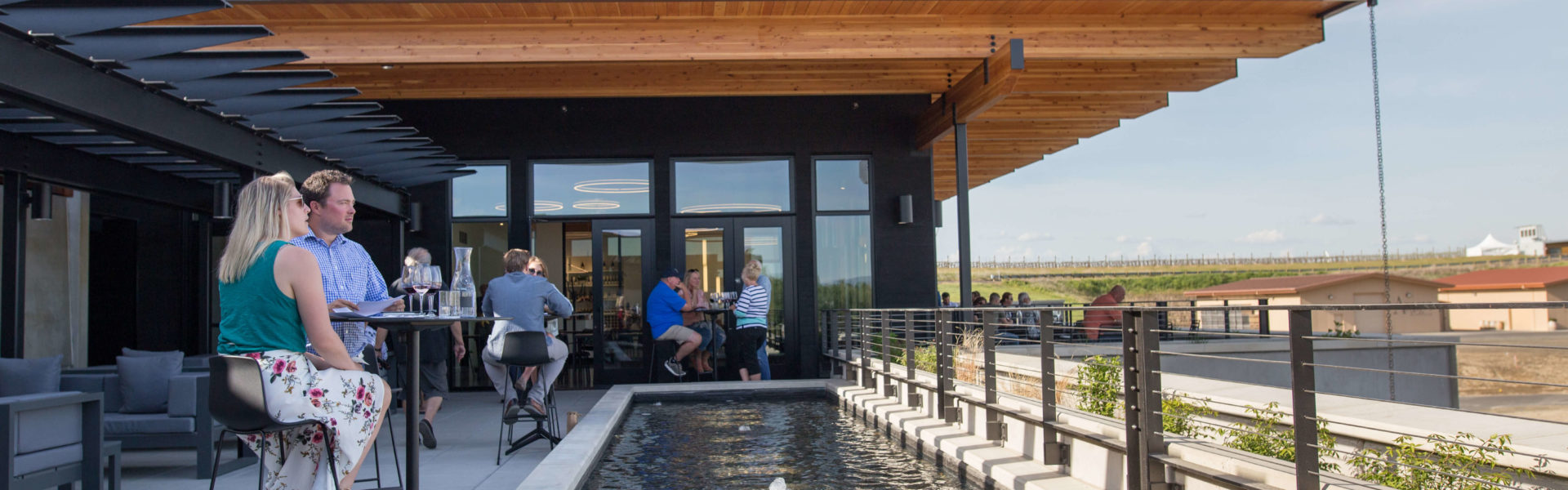Patio seating at Valdemar Estates winery in Walla Walla