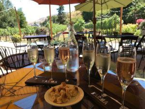 Sparkling wine flight at Karma Vineyards