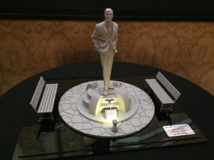 The miniature model for Walla Walla's Adam West statue depicts the actor during the 1960s