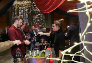 Wine tasting at Cornucopia 2019.