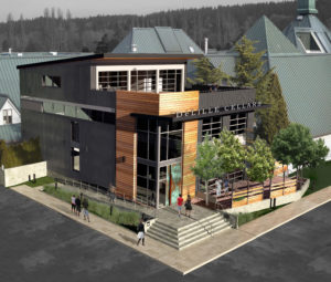 A rendering of DeLille's new Woodinville tasting room